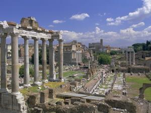 View Across the Roman Forum, Rome, Lazio, Italy, Europe by John Miller