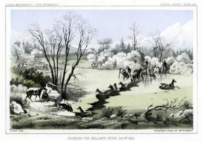 Crossing the Hellgate River, 6 January 1854