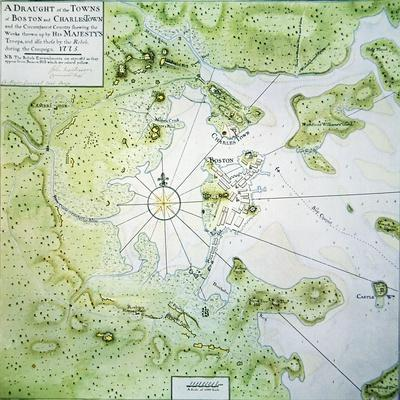 Map of Boston and Charlestown, 1775