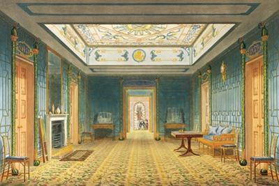 The Double Lobby or Gallery (South) Above the Corridor from Views of the Royal Pavilion, Brighton… by John Nash