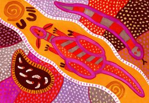 Aboriginal Painting by John Newcomb