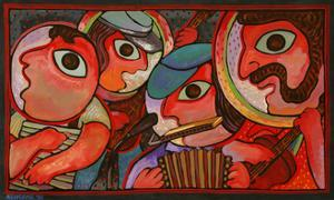 Cajun Band by John Newcomb