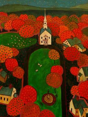 New England Village by John Newcomb