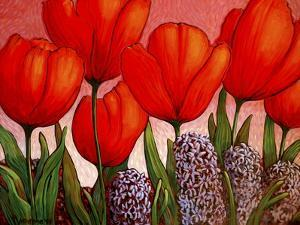 Tulips and Hyacinths by John Newcomb