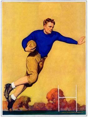 """""""Football Player,""""November 1, 1931 by John Newton Howitt"""