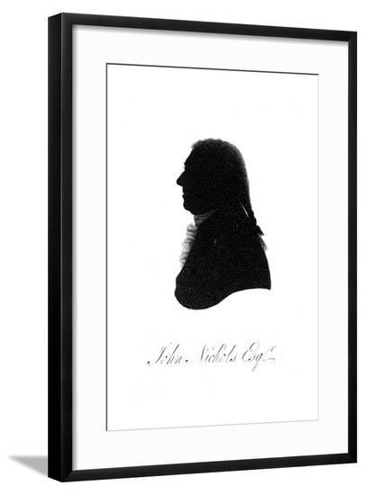 John Nichols Silhouette--Framed Giclee Print
