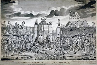 A Sudden Surprize to the City Militia, 1774