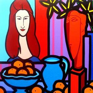 Homage to Modigliani 1 by John Nolan