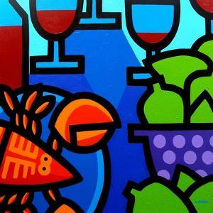 Lobster Wine and Limes by John Nolan