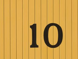 Number Ten on the Side of a Historic Trolley Car by John Nordell