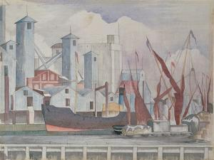 Granaries, Ipswich, 1923 by John Northcote Nash