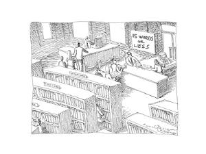 15 words or less - Cartoon by John O'brien