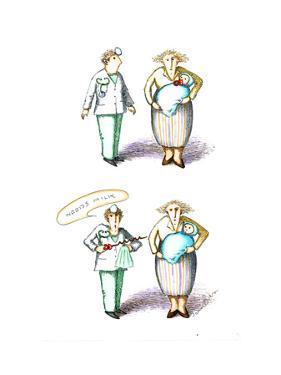 Baby needs milk - Cartoon by John O'brien