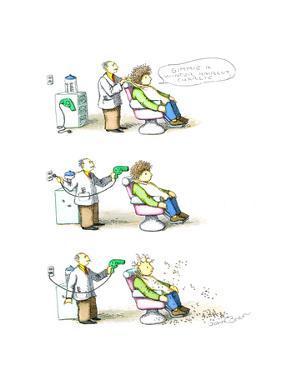 Barber - Cartoon by John O'brien