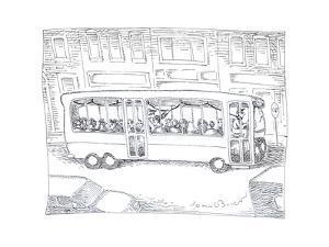 Bus driver - Cartoon by John O'brien
