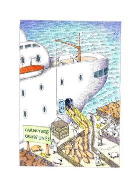 Carnivore cruise lines - Cartoon by John O'brien