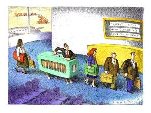 Centaur at airport security - Cartoon by John O'brien