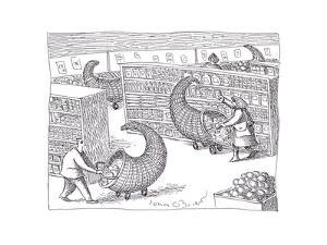 Cornucopia Shoppers - Cartoon by John O'brien