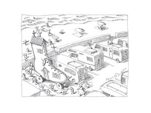 Fairytail camper - Cartoon by John O'brien