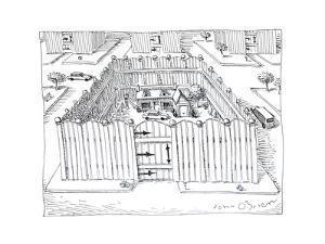 Fenced in homes - Cartoon by John O'brien