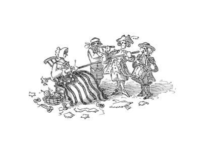 Flag pole - Cartoon