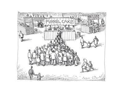 Funnel Cake - Cartoon