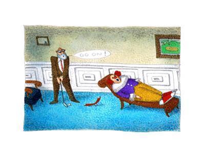 Go on! - Cartoon by John O'brien