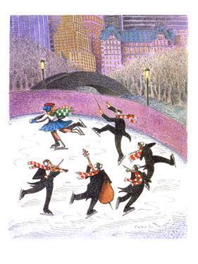 Ice skating band - Cartoon by John O'brien