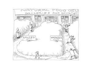 Natural Food Store - Cartoon by John O'brien