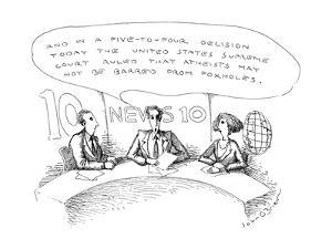 News caster on 'News 10'. - New Yorker Cartoon by John O'brien