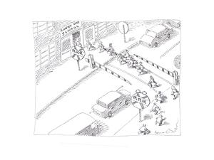 School Crossing - Cartoon by John O'brien