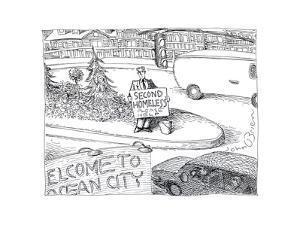 Second Homeless - Cartoon by John O'brien