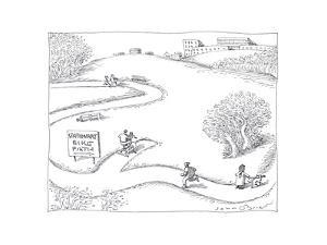 Stationary Bike Path - Cartoon by John O'brien