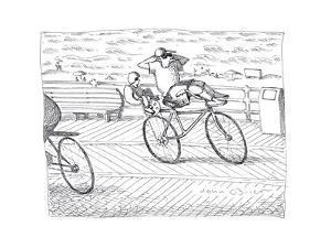 Tandem Bike - Cartoon by John O'brien