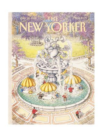 The New Yorker Cover - July 18, 1988 by John O'brien