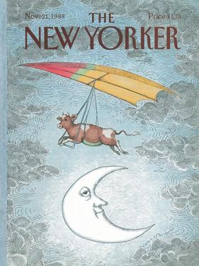 The New Yorker Cover - November 21, 1988 by John O'brien