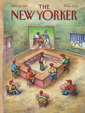 The New Yorker Cover - October 19, 1987 by John O'brien