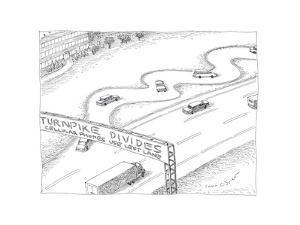 Turnpike Divides - Cartoon by John O'brien