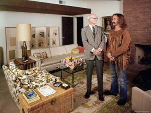 David Crosby Standing with Father Floyd in Father's House by John Olson