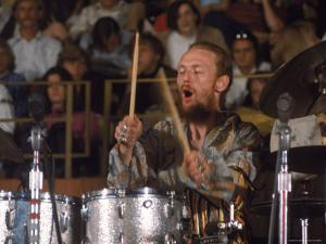 Drummer Ginger Baker of the Band Blind Faith in Concert at the Los Angeles Forum by John Olson