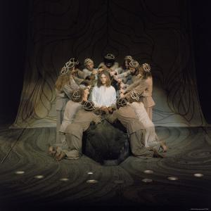 Jesus Surrounded by His Disciples in a Scene from Jesus Christ Superstar by John Olson