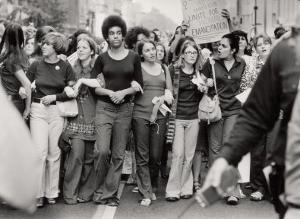 Parade Down Fifth Avenue on the 50th Anniversary of the Passage of the 19th Amendment by John Olson