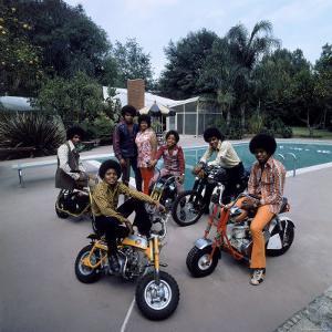 Pop Group Jackson Five: Jackie, Parents Joe and Katherine, Marlon, Tito, Jermaine and Michael by John Olson