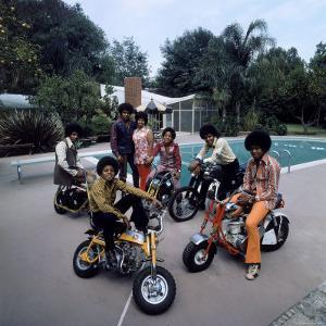 Pop Group Jackson Five: Jackie, Parents Joe and Katherine, Marlon, Tito, Jermaine and Michael by John Olson