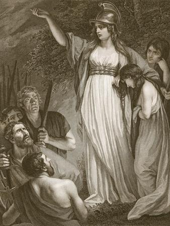 Boadicea Haranging the Britons, Engraved by Sharp