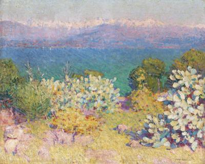 In the Morning, Alpes Maritime from from Antibes by John Peter Russell