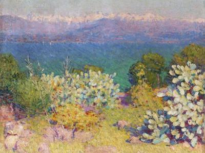 In the Morning, Alpes Maritimes from Antibes, 1890-91