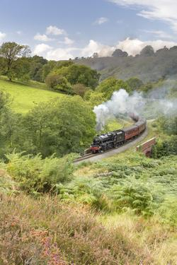 A steam locomotive approaching Goathland from Grosmont in September 2016, North Yorkshire, England by John Potter