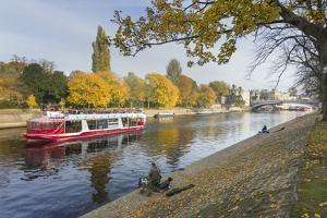 Autumn along the River Ouse in City Centre, York, Yorkshire, England, United Kingdom, Europe by John Potter