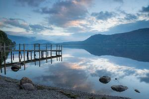 Brandlehow Bay, Borrowdale, Lake Derwent Water at Daybreak by John Potter